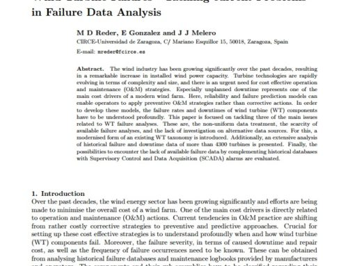 Wind Turbine Failures – Tackling current Problems in Failure Data Analysis