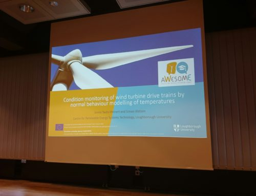 Jannis Tautz-Weinert, one of the AWESOME researchers, presented a study case at the Conference of Wind Power Drives (CWD 2017)