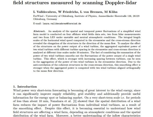 Spatial-temporal analysis of coherent offshore wind field structures measured by scanning Doppler-lidar