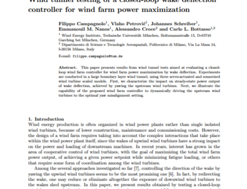 Wind tunnel testing of a closed-loop wake deflection controller for wind farm power maximization